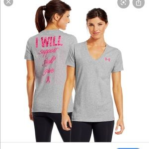 Grey Under Armour Breast Cancer fight shirt size S